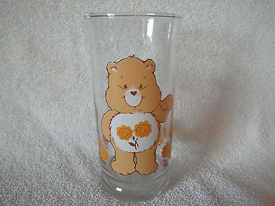 "Vintage 1980's Pizza Hut Care Bear ""Friend"" Glass-Appears Unused-Perfect-HTF!"