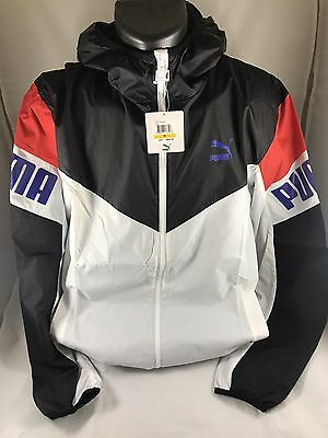 Puma Football Windbreaker Men's Size Medium Multicolor Black Red Blue White