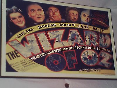 The WIZARD OF OZ VINTAGE WOOD SIGN ADVERTISEMENT PANEL 1985 MGM LAND OF OZ RARE!