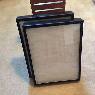 "Box (of 2) 12"" x 16"" x 2"" (Extra Thick) Display Cases (""Riker"" type - USA Made)"