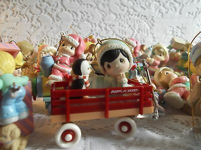 Lot of 40 Plus Precious Moments Ornaments Date 1999/2000 No boxes