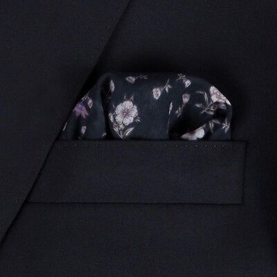 Rare! NWT Paul Smith Navy Floral Pocket Square/Handkerchief,  Made in Italy.