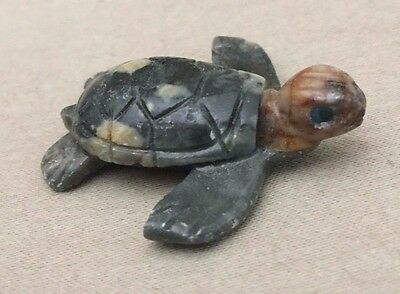 Unmarked Miniature Carved Stone Sea Turtle