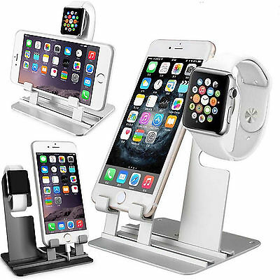 Charger Holder Stand Charging Aluminum Dock Station For iWatch iPhone Xs Max Xr