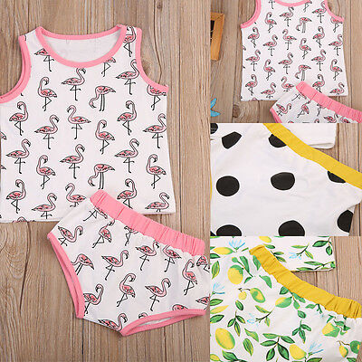 2pcs Newborn Toddler Infant Baby Boy Girls Clothes T-shirt Tops+Pants Outfit Set