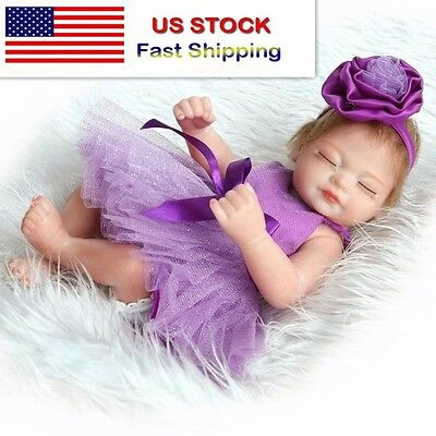 Handmade Real Looking Newborn Baby Realistic Vinyl Silicone Reborn Dolls Girl