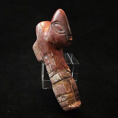 Ancient Pre-Columbian Mesoamerican Stone Effigy Pipe ~ Ojuelos Jalisco Enigma!!