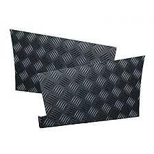 Land Rover Defender 110 - Chequer Plate Rear Wings (2) Protector Black - Re585B