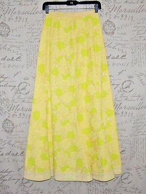Vintage Lilly Pulitzer Yellow Floral Skirt size 2