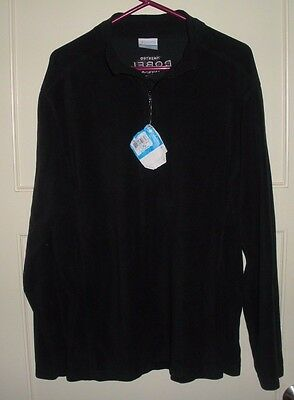 Columbia Black 1/4 Zip Light Weight Fleece Jacket Sweatshirt Men's Size: L