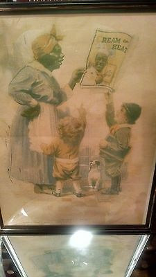 Cream Of Wheat Framed Advertizing Picture   ( Mammy's Beau)