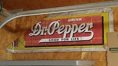 VINTAGE 1940's DR.PEPPER SIGN (RARE SIGN IN UNRESTORED ORIGINAL CONDITION)