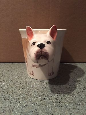 3D  French Bulldog Dog Ceramic Hand Crafted Coffee Mug Amazing condition