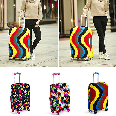 Rayure Taille Bagage Valise Lycra Anti-poussière Housse De Protection Neuf