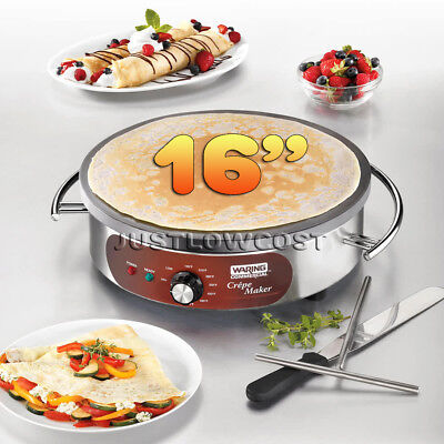NSF Stainless Steel Commercial Heavy-Duty Electric Crepe Maker, 16-Inch