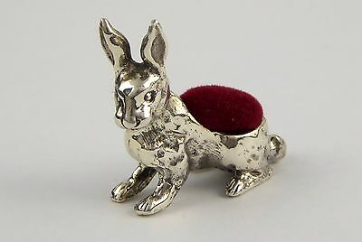 Vintage .925 Sterling Silver Sewing Pin Cushion Rabbit LAYBY AVAILAB