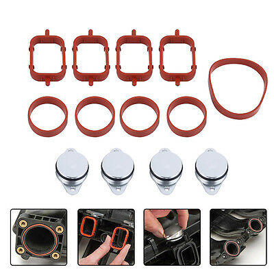 4Pcs 22mm Diesel Swirl Flap Blanks Bungs Gaskets For BMW M47 E46 320d 330d 525d