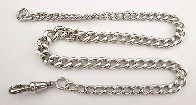Antique Graduating Sterling Silver Pocket Watch Fob  Chain LAYBY