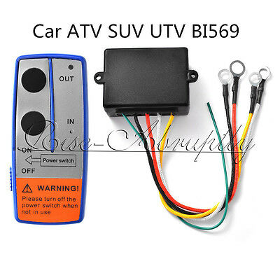 100ft 12V Wireless Winch Remote Control Switch Handset for Car ATV SUV UTV BI569