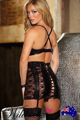 NEW Shirley Of Hollywood Lame with Lace Waist Cincher, Garter Set
