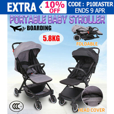 New Baby Stroller Pram Babytime Compact Lightweight Jogger Carry-on Foldable