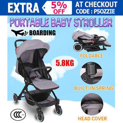Portable Baby Stroller Pram Babytime Compact Lightweight Jogger Carry-on 5.8kg