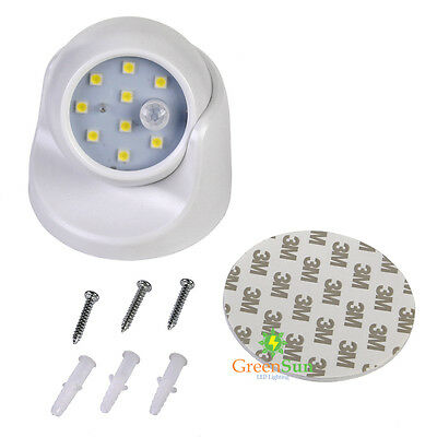 Rotatable 360° LED Sensor Light Battery Powered Infrared Motion Detection Wall