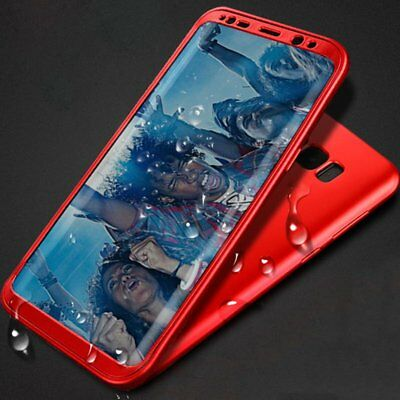 For Samsung Galaxy S8 Plus S9 S7 Case Luxury Soft 360° PC + TPU Shockproof Cover