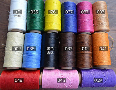 A Spool of Leather Hand Sewing Thread,Total Length 260 meters(285 Yards),Flat