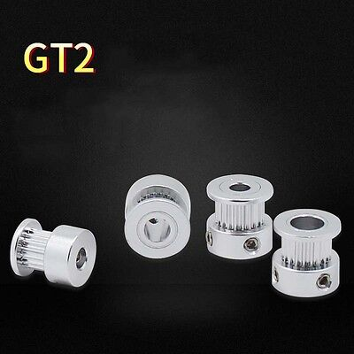 2GT/GT2 16T 20 Tooth 5 6.35 8mm Bore Aluminum Alloy Timing Pulley for 3D Printer