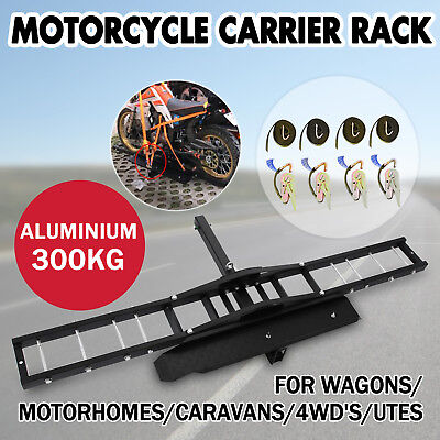 300kg Motorcycle Carrier Hauler Hitch Mount Rack front rear Tow Bar stable