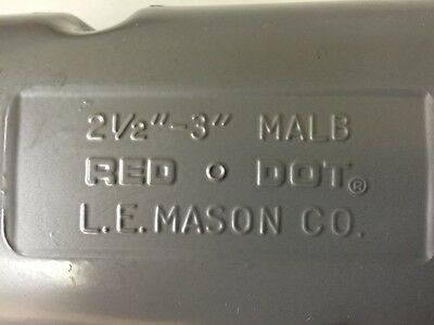 """Used, Red Dot  2-1/2"""" - 3""""  Malb Conduit Body With Cover"""