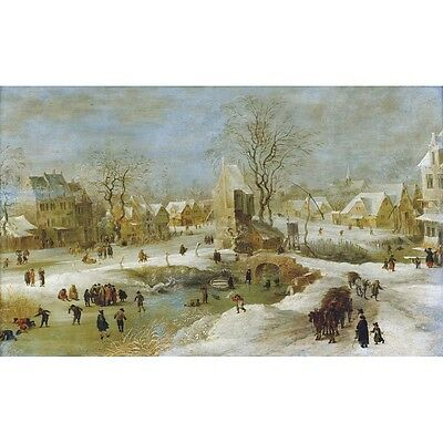 Winter Scene in Holland - J Brueghel Medici Print
