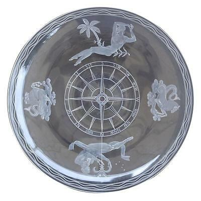 Important Steuben Glass 'Mariners' Bowl-Sidney Waugh, Dated 1937 signed