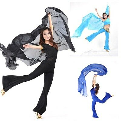 Womens Chiffon Belly Dance Costume Dress Shawl Veil Scarves 250*120CM Outfit