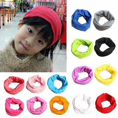 UK Kids Baby Boys Girls Warm Scarf Cotton Neck Shawl Neckerchief Toddler Scarves