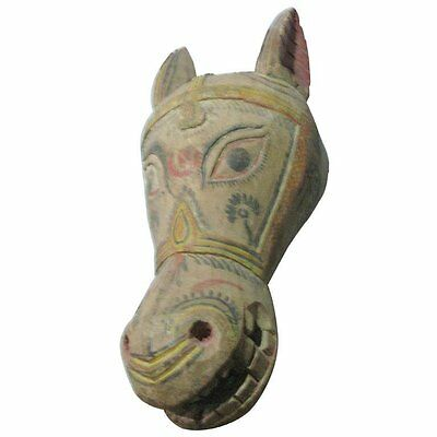 1940s Mexican Large Carved Wood Horse Sculpture