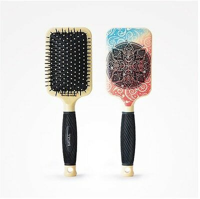 Cepillo Raqueta India Art Zen Shiva Peine Rock Hair Brush Pelo Profesional Ravi