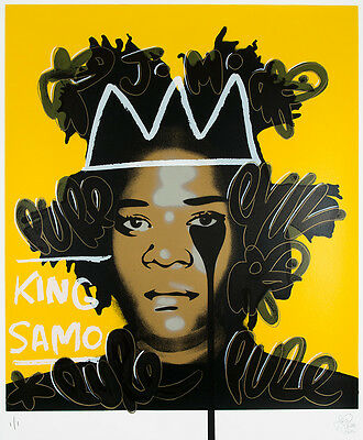 PURE EVIL - Basquiat's nightmare - Hand finished 1/1 - Urban Street art, pop art