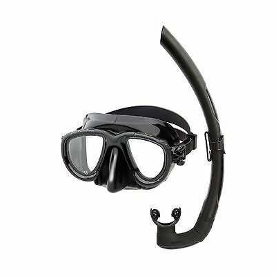 Mares Set Tana Mask Snorkel Dive Freediving Spearfishing Black Silicone 411734