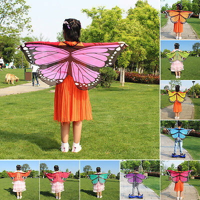 Child Girl Kid Cloak Fairy Butterfly Costume Wings Gift Festival Pixie Cosplay