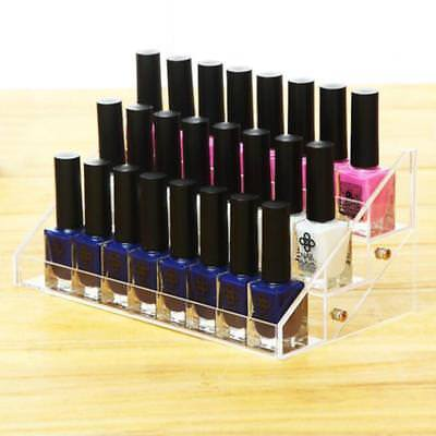 3 Tiers Acrylic Nail Polish Display Stand Holder Organizer Holder 24 Bottles