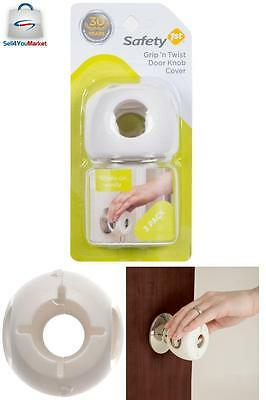 3 Pack Child Proof Safe Door Knob Cover Children Safety Lock Kids Toddler Guard-