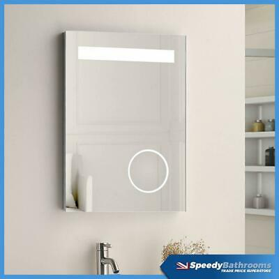 500 X 700 LED Bathroom Mirror Illuminated Demister Touch Magnifying Mirror
