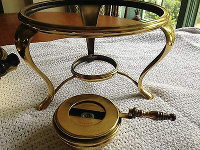 Antique Manning Bowman &Co. Chafing Dish with alcohol burner