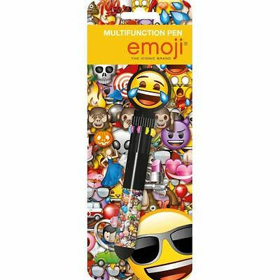 EMOJI NOVELTY PEN: Includes 10 Different Colours in 1 Pen : WH3 TBL : 134 : NEW