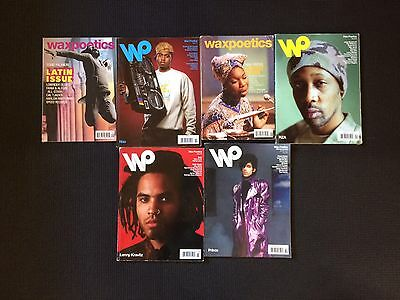 Lot of Wax Poetics Magazines Issues #48-53 (Very Good Condition!)