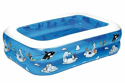 Friedola Arctic My First Pool Piscine avec fond gonflable Multicolore 136 x 96 x