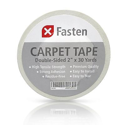 Durable XFasten Double Sided Carpet Tape Strong Natural Adhesive Rug Tape