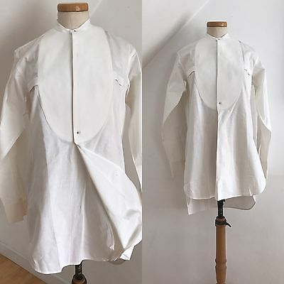 Vintage 1920s Art Deco Evening Shirt Tunic Top Pure Linen Old England Marcella